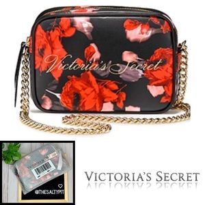 Just In! NWT VS Bold Floral Crossbody Bag
